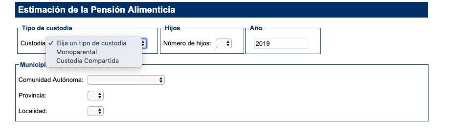 calculo pension alimentos cgpj
