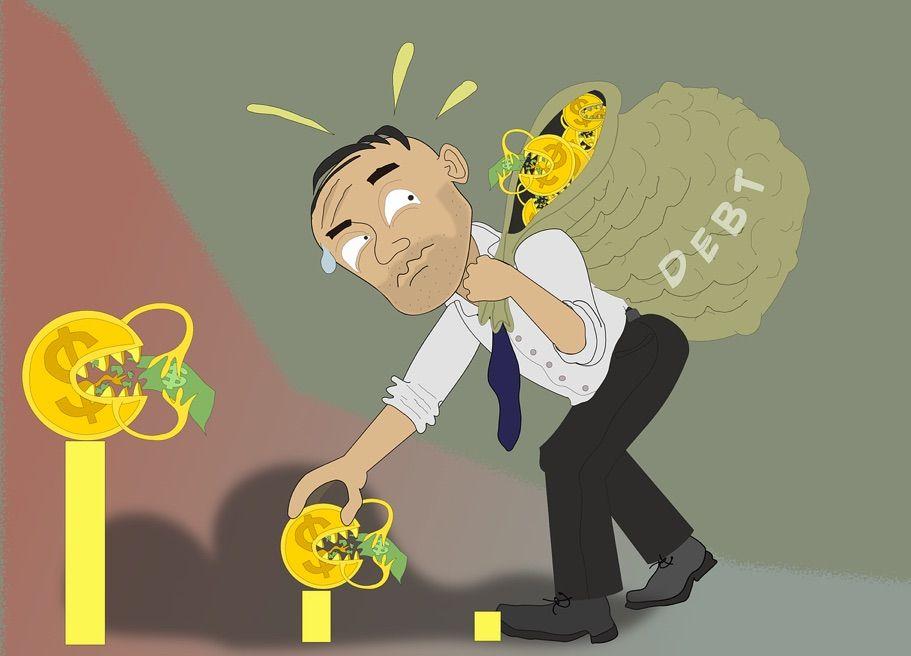 no encontrar la forma de hacer frente a los pagos